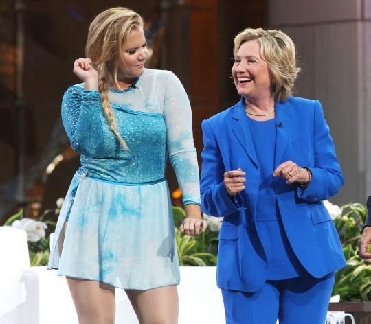 Hillary, Lena and Amy: Sisterhood is powerful, or so Clinton hopes